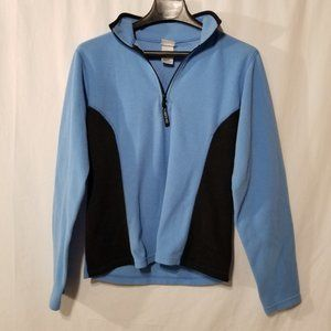 The North Face blue pullover fleece top